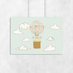 motyw balonu i myszek