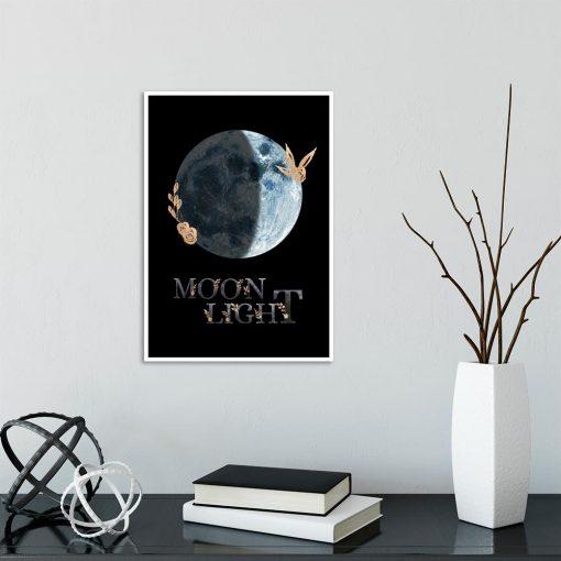 księżyc jako dekoracja plakatu