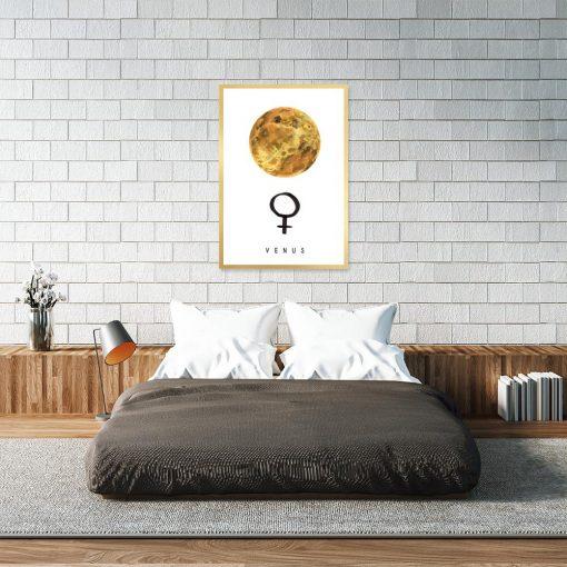 plakat z motywem planety wenus