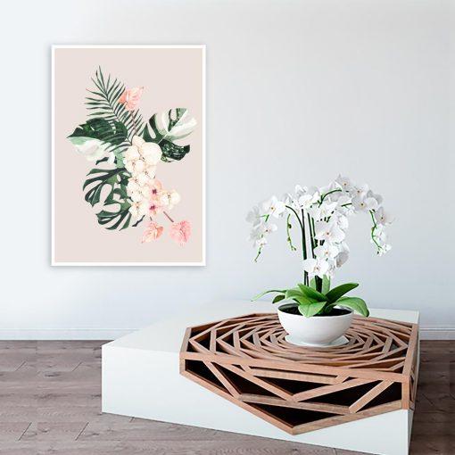 plakat i motyw botaniczny
