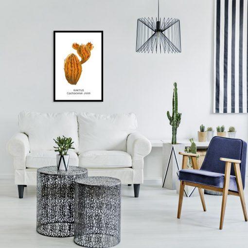 pionowa dekoracja z kaktusem