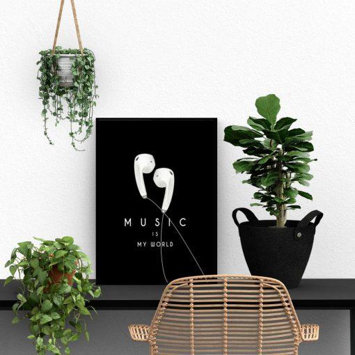 plakat z motywem muzyki