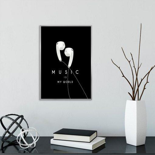 muzyka jako motyw plakatu