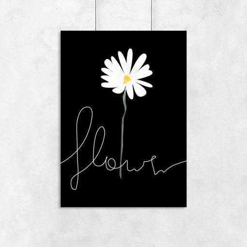 plakat i kwiat