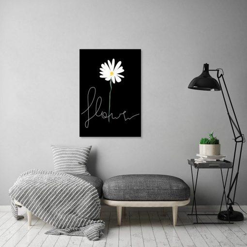 napis flower na plakacie
