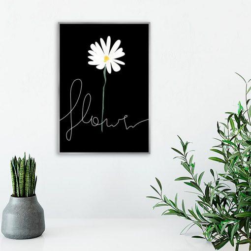 salon z motywem kwiatka