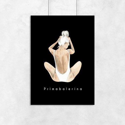 plakat z baleriną