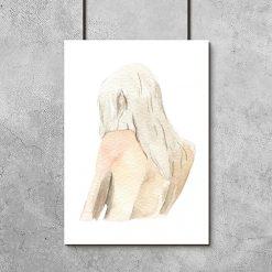 kobieta na plakacie