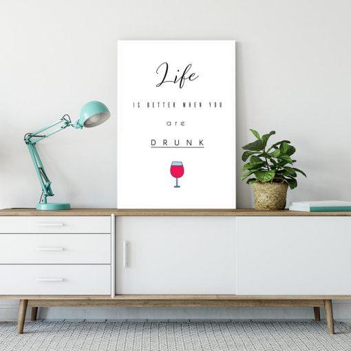 Plakat z napisem do salonu