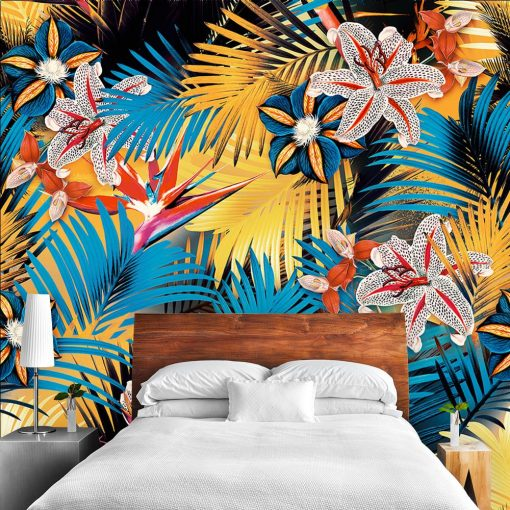 Tropikalna fototapeta do sypialni