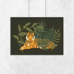 Plakat z motywem tygrysa do salonu