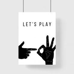 Plakat z gestami palców