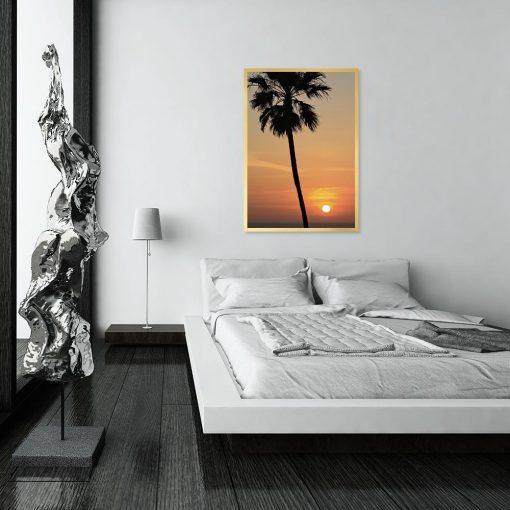 Plakat pomarańczowy do sypialni