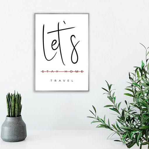 Plakat z motywem podróżowania do salonu