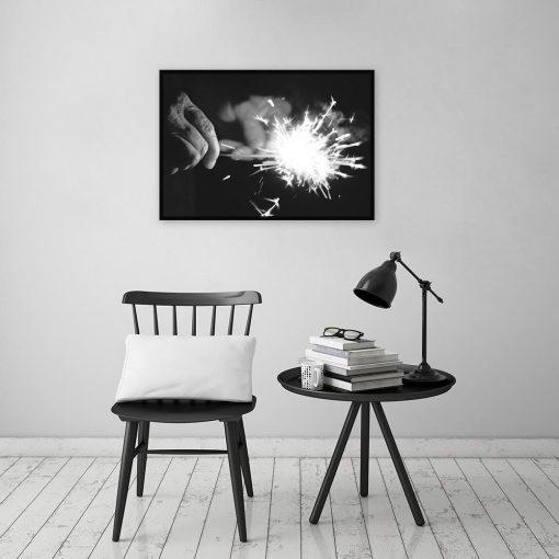 Czarno-biały plakat do dekoracji salonu