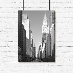 Plakat w kolorze czarno-białym do salonu