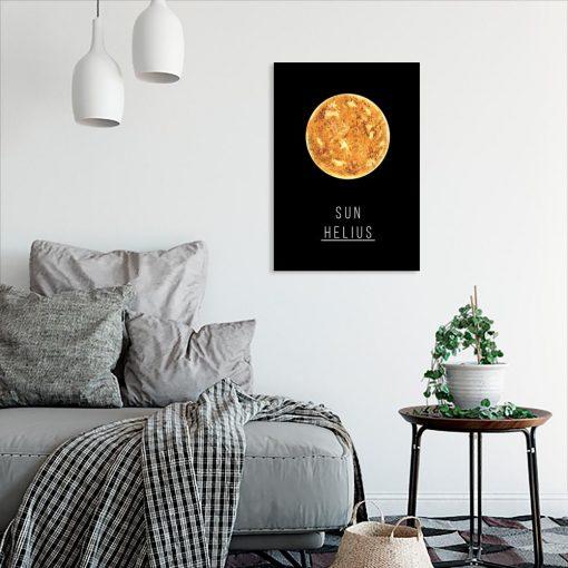 Plakat z motywem planety do salonu