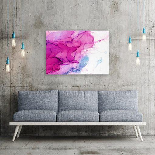 Różowy obraz do salonu