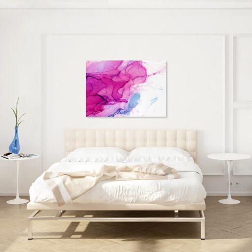 Różowy obraz na ścianę do salonu
