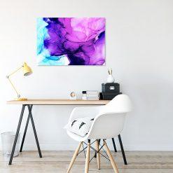 Obraz fioletowo-niebieski do biura