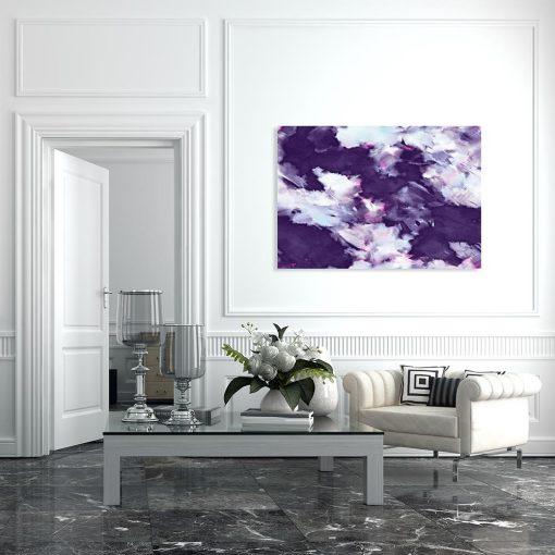 Fioletowy obraz z abstrakcją