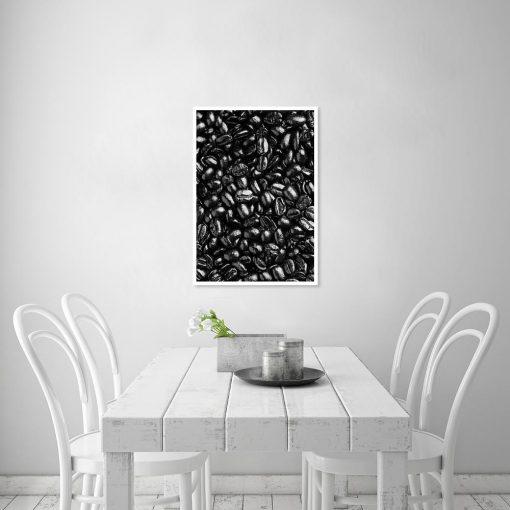 Plakat z ziarnami kawy do kuchni