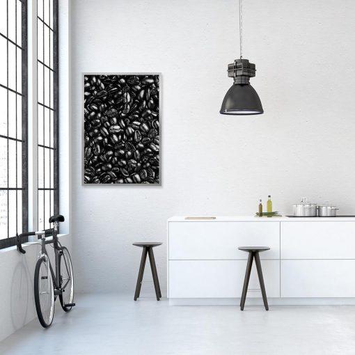 Czarno-biały plakat na ścianę do kuchni