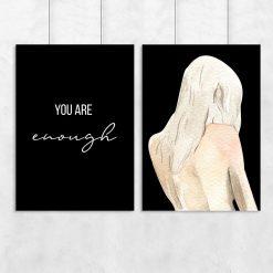 Dwa plakaty na ścianę do sypialni