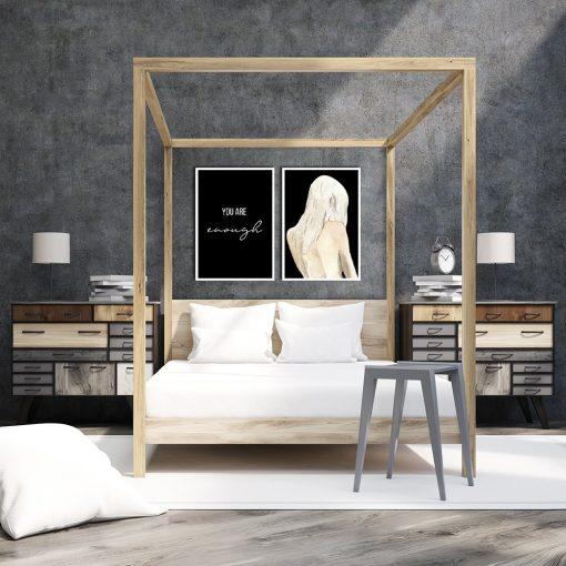 Plakat podwójny na ścianę do sypialni