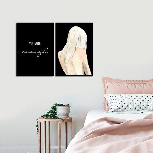 Plakat dyptyk na ścianę do sypialni
