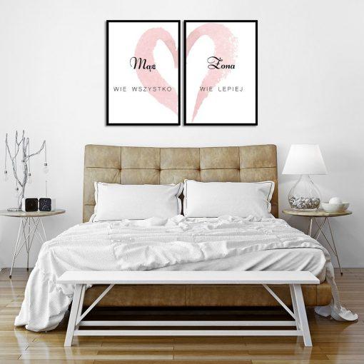 Plakat podwójny do upiększenia sypialni