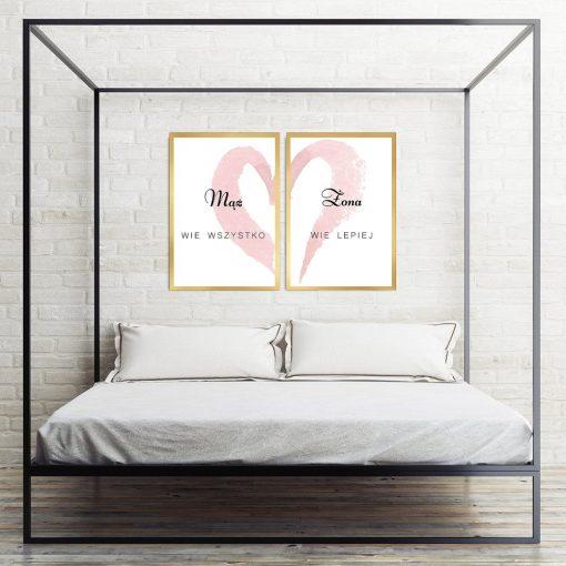 Plakat podwójny nad łóżko do sypialni