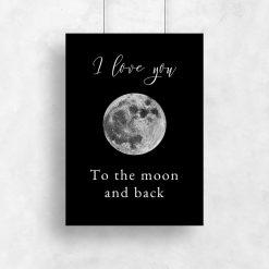 Czarno-biały plakat do sypialni