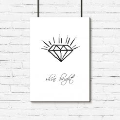 Plakat z diamentem do salonu