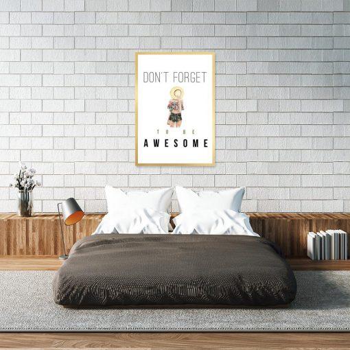 Plakat z motywacją do sypialni