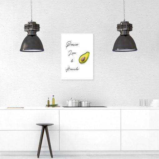 Plakat z napisem do ozdoby kuchni