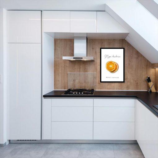 Plakat z pomarańczą do kuchni
