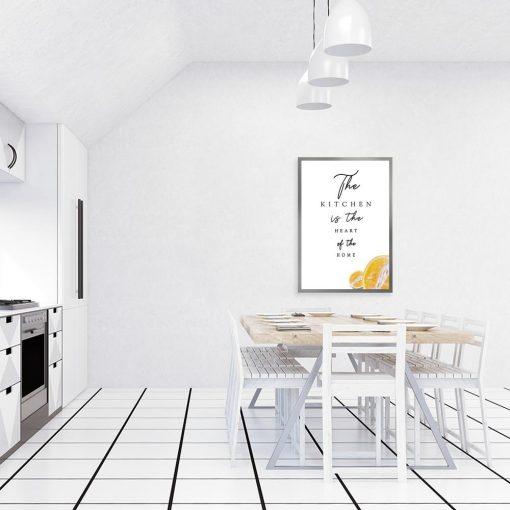 Plakat z ilustracją cytryny do kuchni