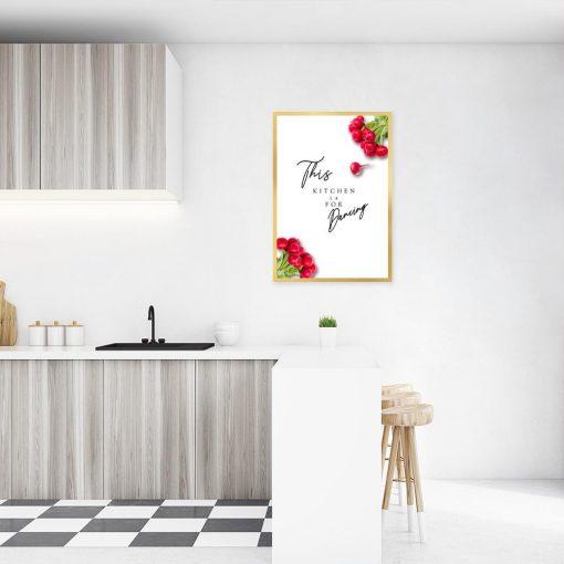 Plakat z rzodkiewką do kuchni