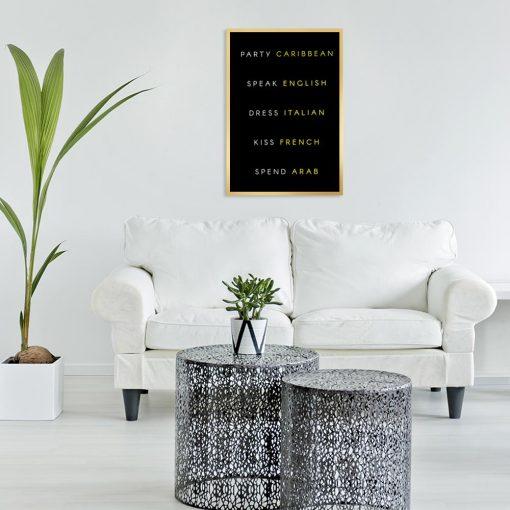 Plakat typograficzny do salonu