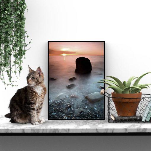 Plakat morskie skały