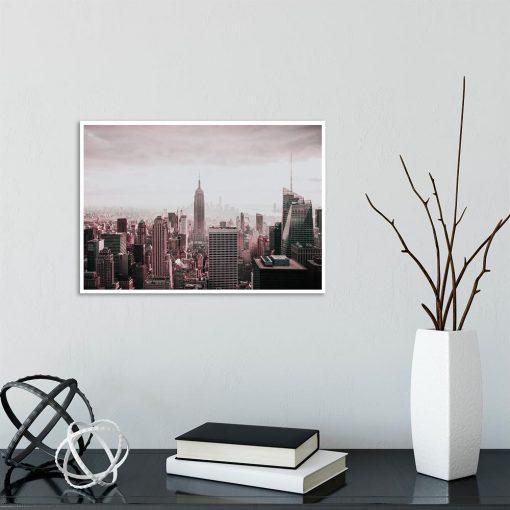 Plakat wieżowce Nowego Jorku