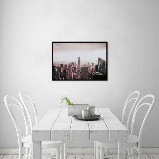 Plakat z nowojorską panoramą