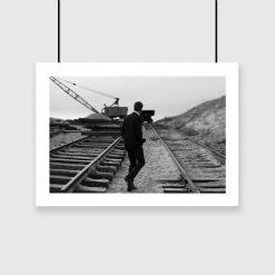 Plakat w kolorze czarno-białym