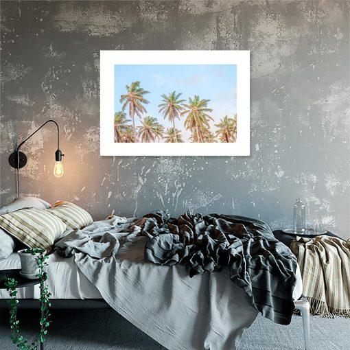 Plakat zielone palmy