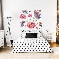 Naklejka różowo-fioletowe kwiaty