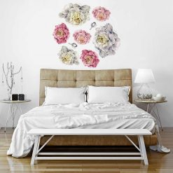 Naklejka na ścianę z motywem kwiatów