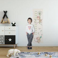 praktyczna miarka wzrostu do pokoju dziecka