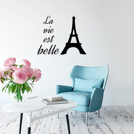 Naklejka jednokolorowa La vie est belle