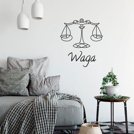 Naklejka na ścianę z zodiakiem wagi